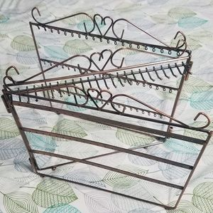 Awesome burnished copper tri-fold jewelry rack
